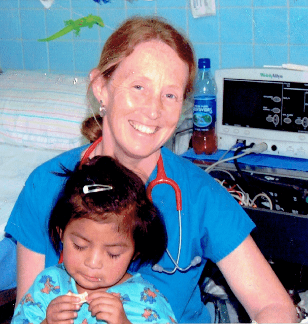 Maj with young patient